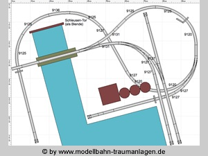 Harbor track plan N scale