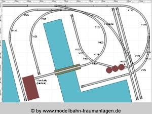 Model railroad layout: Harbor track plan