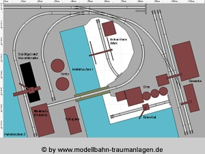 Model railroad layouts: Harbour track plan